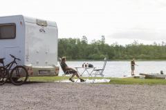 Ställplatser sjönära läge, vid sjön Lönern.